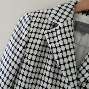 Ann Taylor Geometric Circle WovenTri Button Coat